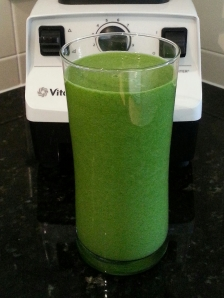 this morning's green smoothie
