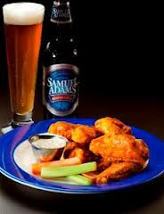 Buffalo Wings & Sam Adams Lager