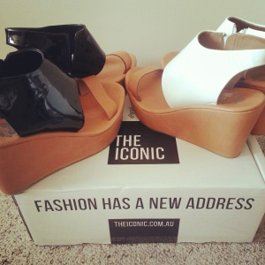 I have an obsession with The Iconic - two pairs of the same shoe in different colours! Love!