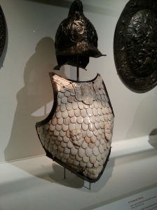 Alexander's military armour made from bone
