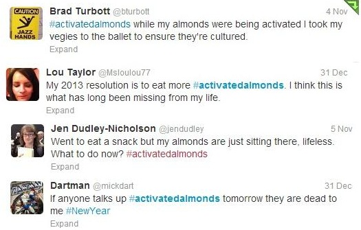 some twitter #activatedalmonds hilarity!