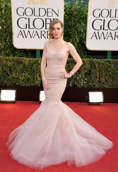 Amy Adams in 'ballet blush' Marchesa