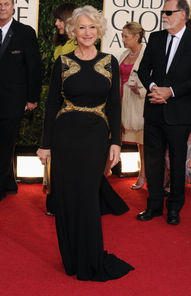 Dame Helen Mirren smashes it in Badgley Mischka