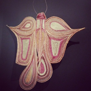 Butterfly, 2009 by Marina Murdilnga (twined pandanus fibre)