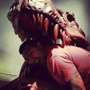 Tasty Jay....in exoskeleton of T-Rex