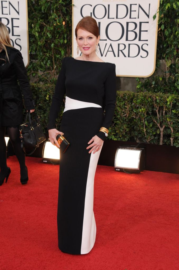 the divine Globe winner Julianne Moore in custom Tom Ford