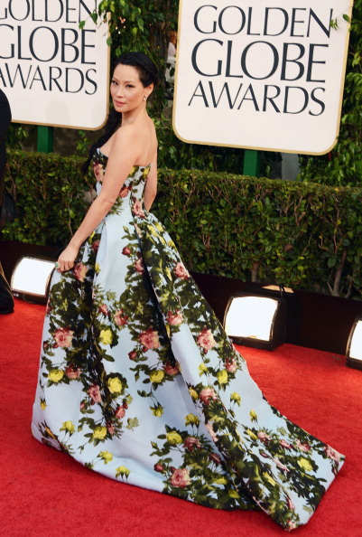 Lucy Liu in a beautiful billowing Carolina Herrera