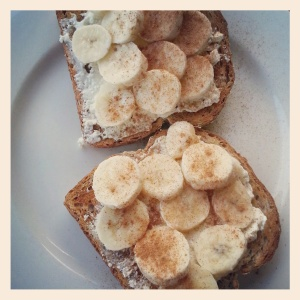 brekkie - banana bruschetta