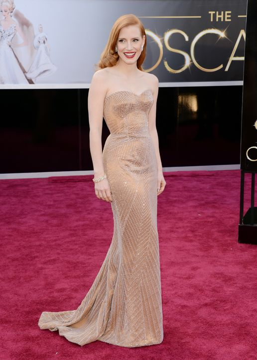 Jessica Chastain in Armani Prive