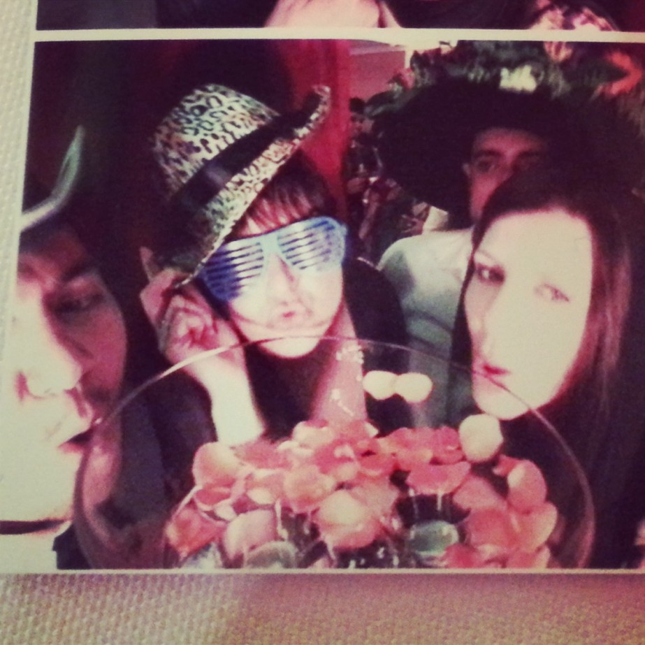 photo booth fun! Jay, me, Geoff & Mich