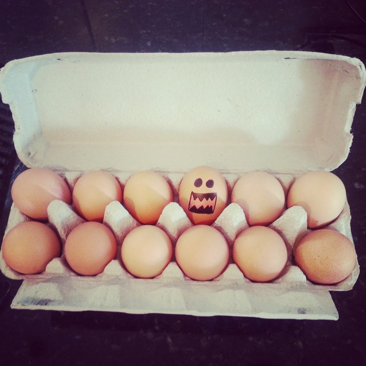 eggcellent! mucking around with the dirty dozen...