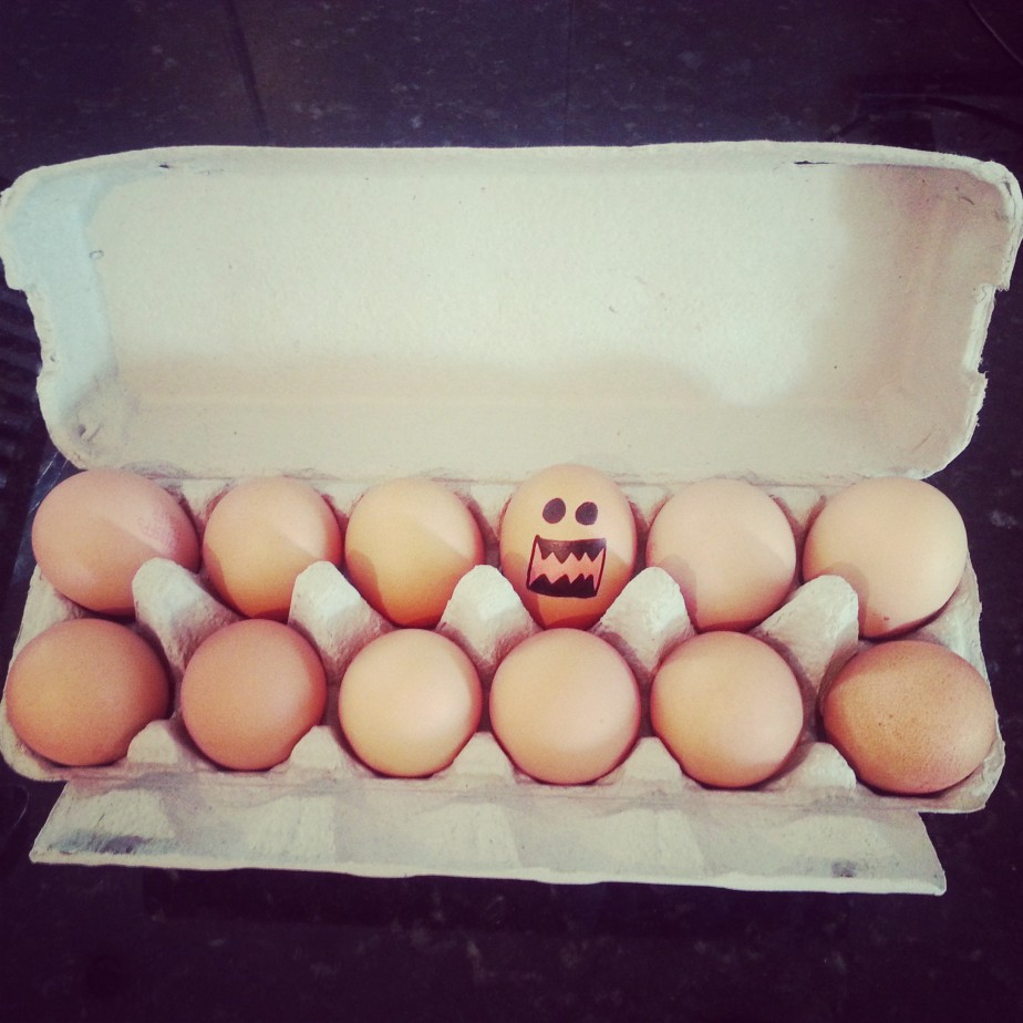 eggcellent! mucking around with the dirty dozen...