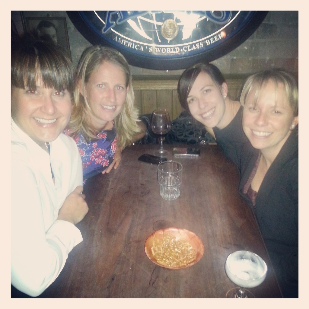the girls; clockwise from the left; me, Mel, Mands & Amy