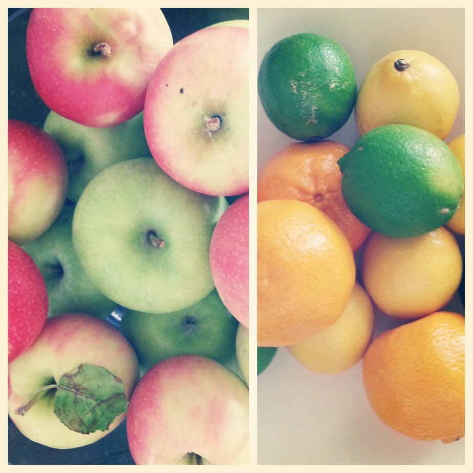 fruit from the Grower's Markets; these apples were picked the day before!