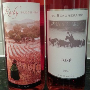Mudgee Rose wines - yum!