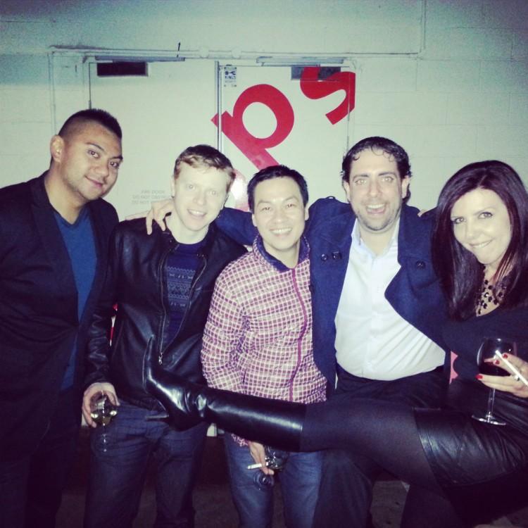 paaaartaaaay with my peeps!!! from Left: Jay, Pete, Jared, Geoff & Michelle