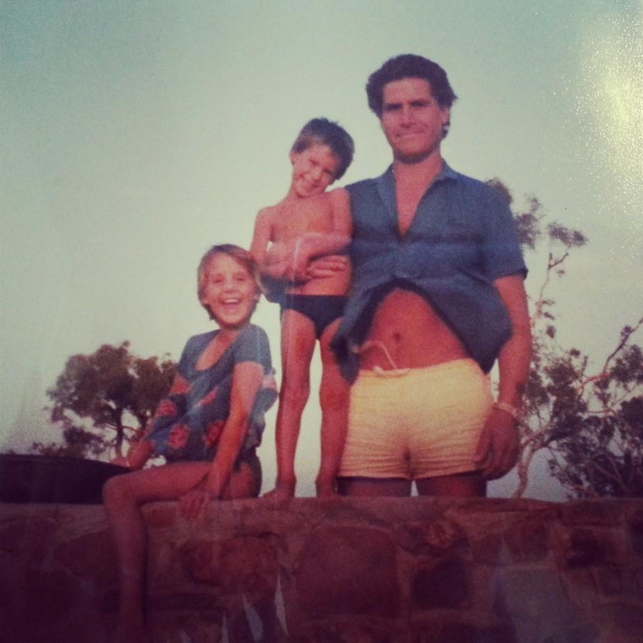 (R-L) Dad, Juz & me