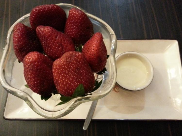strawberries & white chocolate