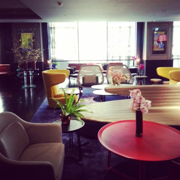 QT hotel reception lounge