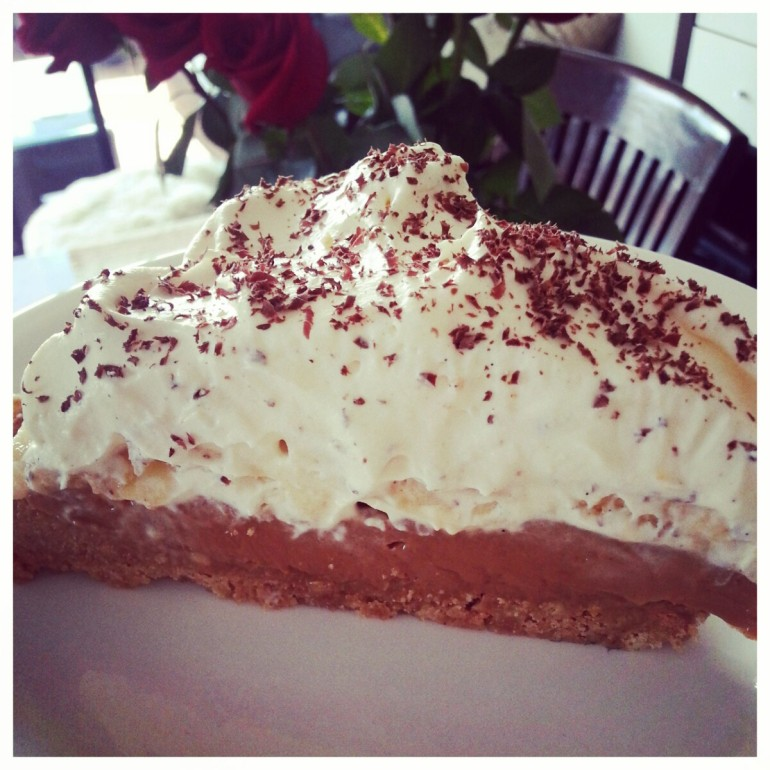a slice of banoffee
