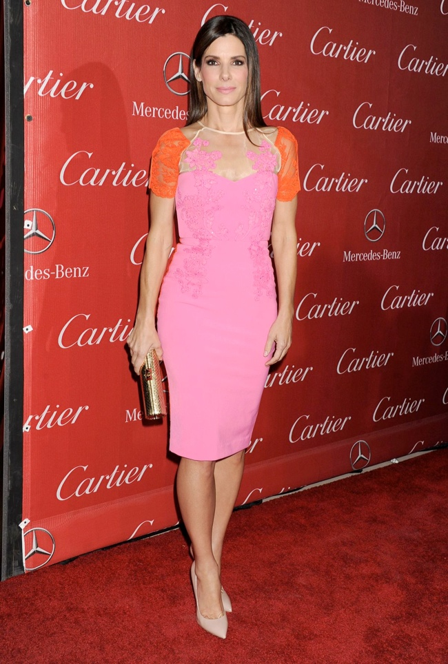 Pink & Red in Aussie designer Alex Perry at the Palm Springs International Film Festival