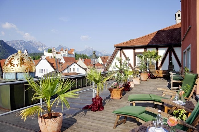 Hotel Hirsch (pic via their website) rooftop