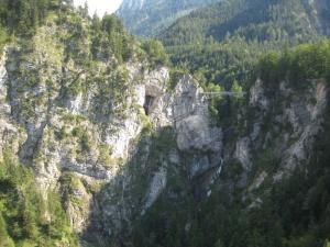 view from inside Neuschwanstein