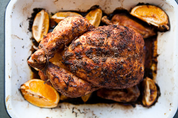whole roasted citrus chicken