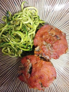 meatloaf muffins & zoodles