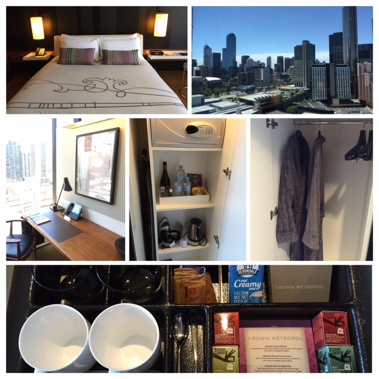 the bed, amenities & view