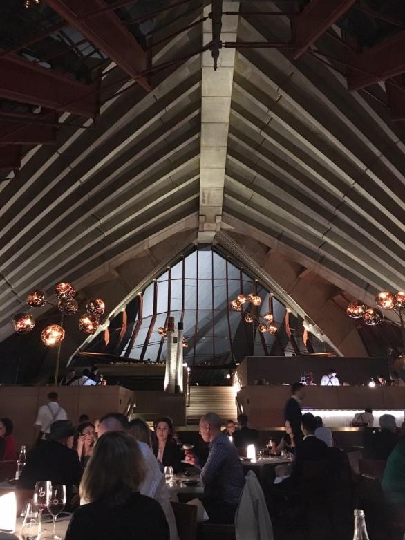 Bennelong restaurant interior inside the Sydney Opera House