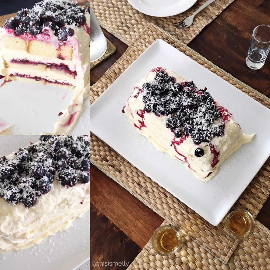 make :: blueberry lemon icebox cake